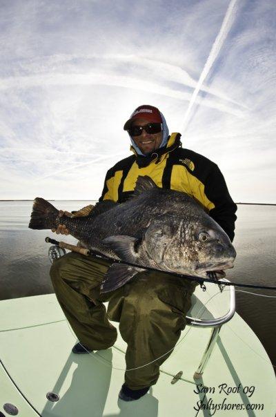 black drum flyfishing