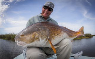 40 pound bull red on fly!